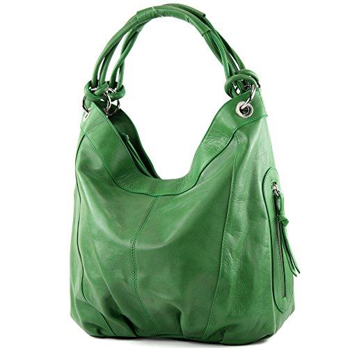 modamoda de - dames italiennes en cuir/cuir Nappa sac à main Z18, Couleur:Grün
