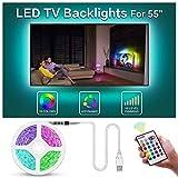 BASON Led Strip,LED Streifen, USB LED TV Hintergrundbeleuchtung Fernseher, 11.29ft/344cm Led Leiste mit Fernbedienung, RGB Led Beleuchtung für 55 Zoll TV/Wandhalterung Cinema Dekoration Led Stripes.