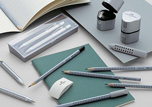 Faber-Castell 117200 - Grip 2001 Bleistift mit Radiergummi