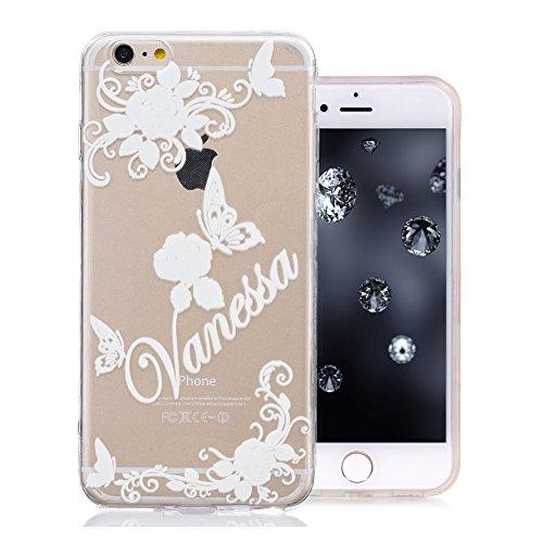 iPhone 6S Plus Coque, Aeeque Mode Fille Dessin Clear Crystal Silicone Doux TPU Protection Contre les Chutes Case Cover Housse Etui pour iPhone iPhone 6 Plus / 6S Plus 5.5 pouce Motif #1