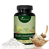 Glucomannan (Konjac-Wurzel) - Natürlich abnehmen durch pflanzlichen Ballaststoff | 120 hochdosierte Kapseln - 3000 mg pro Tagesdosis | PUR und OHNE Zusätze | Sättigung - Gewichtsverlust - pflanzlicher Ballaststoff | vegan | Vegavero