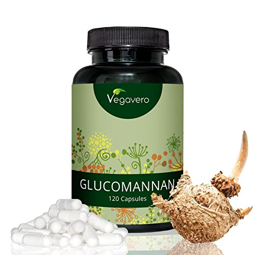 GLUCOMANNANO Radice di Konjac Vegavero | Riduce la fame – Dimagrante naturale | Estratto titolato al 95% | 500 mg per capsula = 3000 mg al giorno | 120 capsule | Vegan