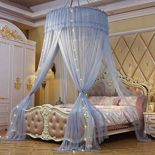 QQA Betthimmel for Kinder, Baumwoll-Moskitonetz-Vorhang, Baby-Indoor-Outdoor-Spiel-Lesezelt, Bett- und Schlafzimmerdekoration, Insektennetzschutz (Color : Gray)