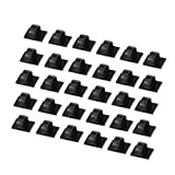 Proster 30 Piece Car Cable Ties Self-adhesive Cable Clips Plastic Rectangle Car Cable Holder Wire Clip Cable Tidy Quickly Tie and Untie the Cord