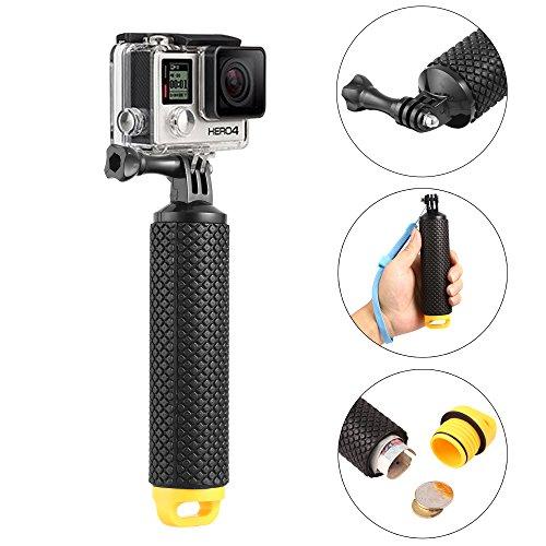 Schwimmende Hand Griff - Wasserdichte Schwimmender Unterwasser Handgriff, Strukturierter Non-Slip-Schaumstoff für EasyGrip, verstellbare Klebeband für Sport und Action-Kamera