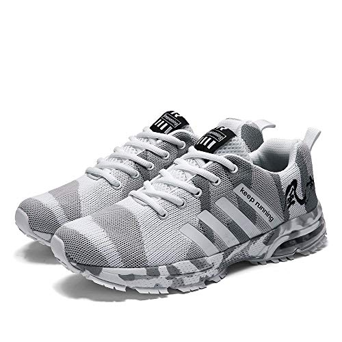 B-commerce Herren Männer Woven Camouflage Mesh Atmungsaktive Sneaker Sport Laufschuhe Schuhe Lässige Mode Patchwork Niedrige Lässige Schuhe (Die Flexx-frauen-schuhe)