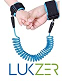 Lukzer Professional Safety Security Spiral Coil Elastic Harness Leash Anti Lost Wrist Cuff Link Traction Rope Strap for Toddler Baby Kids (Boys,Girls).