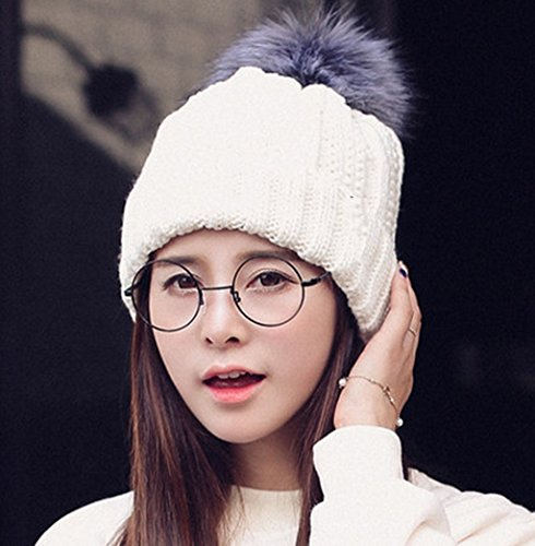 Hat Femmes Hiver Corée Tide Cap Epaississement Hiver Chapeau D'hiver Ms Version Coréenne Fashion Tab Chapeau Tricot ( couleur : # 2 ) # 2