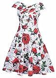 Frauen-Cocktailparty ärmelloses Blumen-Zwanzigerjahre Weinlese-Tee-Kleid