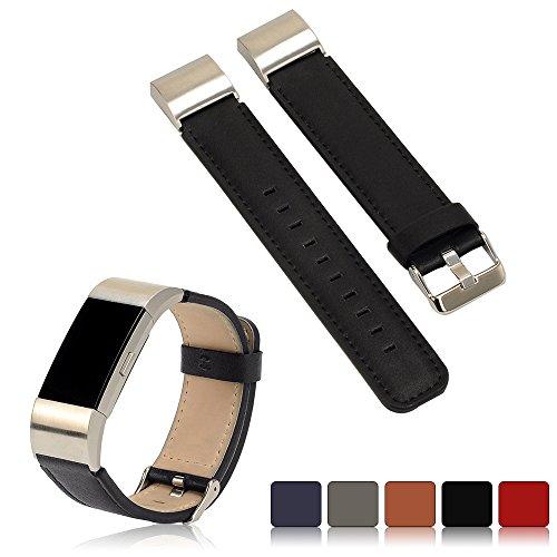 iFeeker Fitbit Charge 2 Leder Ersatz Armband, First Layer Echtes Leder Handgelenk Armband Band für Fitbit Charge 2 Smartwatch (Xl Fitbit Band)