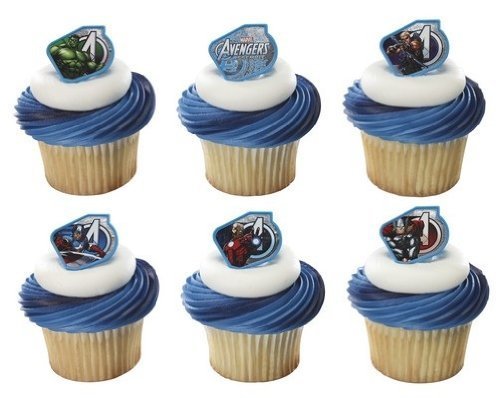 mble Warriors Cupcake Rings - 24 pcs by Marvel ()