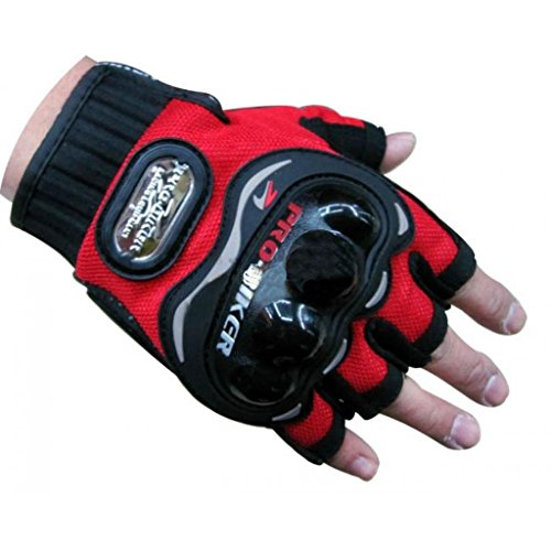 Probiker-Half-Cut-Gloves-for-Motorcycle-Scooter-Red-M