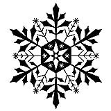 Artemio Typ F Schneeflocken aus Holz Stempel