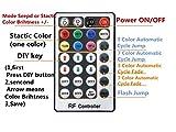 Glasfaser-LED-Licht, 16 W, RGBW, 450 Stück, 0,75 mm, 2 m, für Sternenhimmel + IR-Fernbedienung mit 28 Tasten - 5