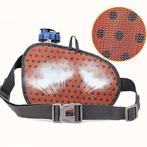TOAOB Hüfttasche Multi-Function Gürteltasche Wasserabweisende Bauchtasche Flache Taille Tasche mit Flaschenhalter zum Sport und Reisen Schwarz