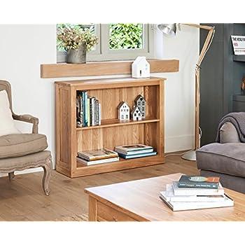 baumhaus mobel oak low bookcase