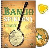 Banjo spielen - Die umfassende Schule für das 5-String Banjo mit CD (und bunter herzförmiger Notenklammer) von Sebastian Schröder