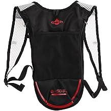 broadroot Camping mochila bolsa de agua bolsa de vejiga Hidratación Pack para Senderismo Ciclismo, Black+Red