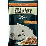 Gourmet Perle Katzenfutter Erlesene Streifen mit Truthahn, 24er Pack (24 x 85 g) Beutel
