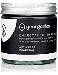 Georganics Activated Charcoal Teeth Whitening Powder | 100% Natural Food Grade Activated Charcoal Tooth Powder for Whiter Teeth - 60ml