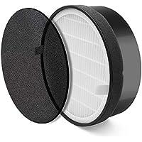 KOBWA purificador de Aire LV-H132 Filtro de Repuesto, Compatible con Filtro de purificador de Aire Levoit LV-H132-RF, filtros de carbón Activado, Elimina olores