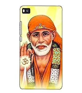 Fuson Designer Back Case Cover for Huawei P8 (Saibaba Sai Shirdi Ke Sai Aao Sai Sabka Malik Ek)
