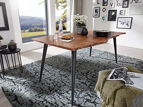 Main Möbel Baumtisch Surat 140x90cm Akazie & Eisen schwarz