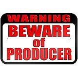 """graphique et plus """"avertissement Attention au Producteur"""" 22.9x 15.2cm plaque en métal Tableau"""
