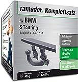 Rameder Komplettsatz, Anhängerkupplung abnehmbar + 13pol Elektrik für BMW 5 Touring (113215-05079-1)