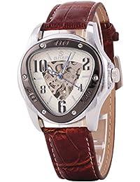 Automatikuhr Automatik Armbanduhr Skelett mechanische Uhr Leder Herren Armbanduhr Herrenuhr
