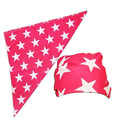 Macho Man Star Printed Kostüm Bandana (Pink)