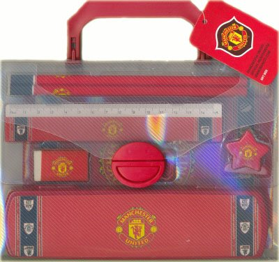 Official Football Club Manchester United Stationery Set in Carry Case