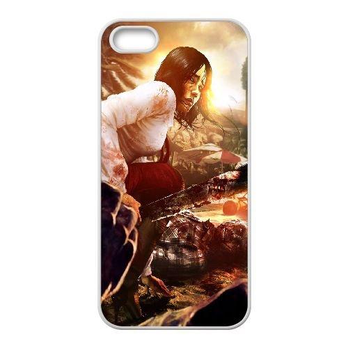 Dead Island coque iPhone 4 4S Housse Blanc téléphone portable couverture de cas coque EBDXJKNBO13073