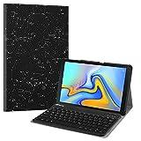 Fintie Bluetooth Tastatur Hülle für Samsung Galaxy Tab A 10.5 SM-T590/T595 Tablet-PC - Ultradünn leicht Schutzhülle mit magnetisch Abnehmbarer drahtloser Deutscher Bluetooth Tastatur, Sternbild
