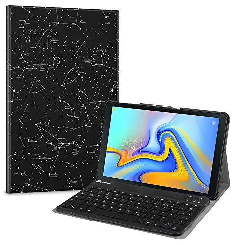 Fintie Tastatur Hülle für Samsung Galaxy Tab A 10.5 SM-T590/T595 2018 Tablet-PC - Ultradünn leicht Schutzhülle mit magnetisch Abnehmbarer drahtloser Deutscher Bluetooth Tastatur, Sternbild (Samsung S, Tablet Tasche 10 5)