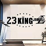 tzxdbh The King of Lakers Lebron James Basketball Star Los Angeles Mural de la Etiqueta de la Pared...