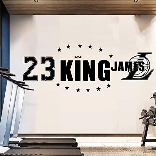 Der König Der Lakers LeBron James Basketballstar Los Angeles Wandaufkleber Wandbild Für Raumdekoration GYM Decor Tapete 144 * 30 cm