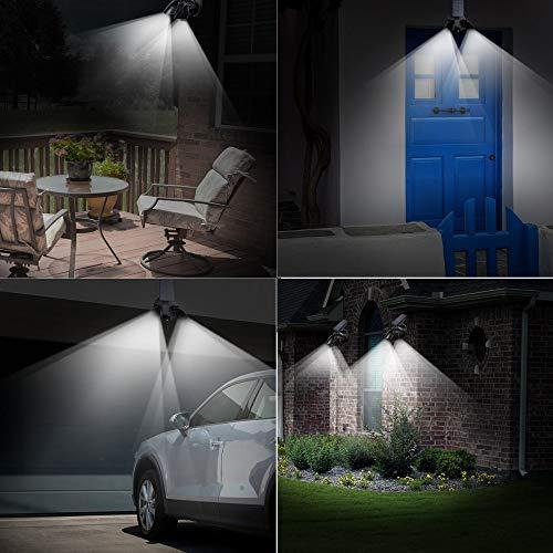 Solar Twin Sensor (LED Solar Licht Twin Head Sensor Beleuchtung Outdoor Solar Lampe Wasserdicht Pathway Emergency Lawn Garden Lampe Wandleuchte)