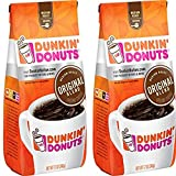 Dunkin' Donuts Original Blend Ground Coffee, Medium Roast Kaffee, 340 Grams (12 Oz.) Per Bag 2-Pack