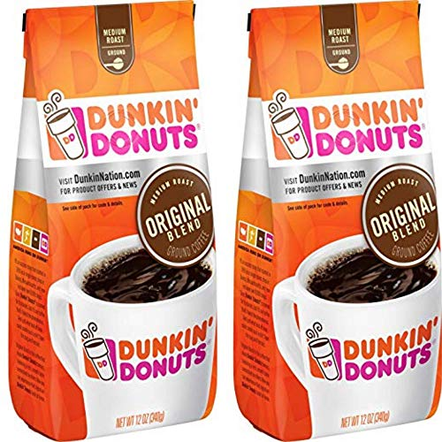 Dunkin Donuts Miscela originale Ground Caffè - (Per sacco 2-Pack) - tostatura media Kaffee, 340 grammi (12 once Original Blend Coffee)