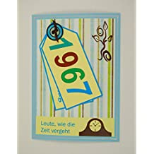 5x Fröhliche Einladungskarten Zum 50. Geburtstag *1967*Handmade*