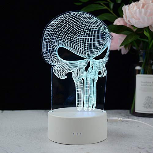 Schreibtisch Schlafzimmer Dekoration Visuelle Illusion Lampe Anime 3D Licht 3D Stereo Lampe Acryl Tischlampe Sieg Geste Karte Version Led Geschenk Geschenk, USA