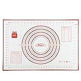 Tapis de Cuisson Patisserie en Silicone Anti-adhésif Réutilisable avec Mesure Convient Pourles Fondant Pâte Gâteaux Tartes 60 x 40 cm...