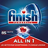 Finish Pastilles Lave-Vaisselle Powerball All in One Max - 85 Tablettes Lave-Vaisselle