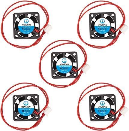 WINSINN 2510 5 V 12 V 24 V DC Dual Kugellager Lüfter 25 x 25 x 10 mm bürstenlose Kühlung für DIY Notebook 3D Drucker 2510 24V