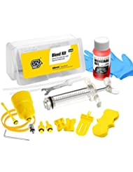 Revmega Outil de kit de purge de frein pour freins à disque hydrauliques Shimano–avec 50ml liquide à base d'huile minérale