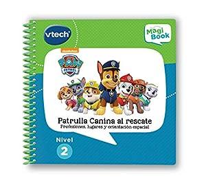VTech- MagiBook Patrulla Canina, Paw Patrol Libro Interactivo Educativo Que refuerza el Aprendizaje en Diferentes materias, a través de más de 40 Actividades y 3000 interacciones (3480-480222)