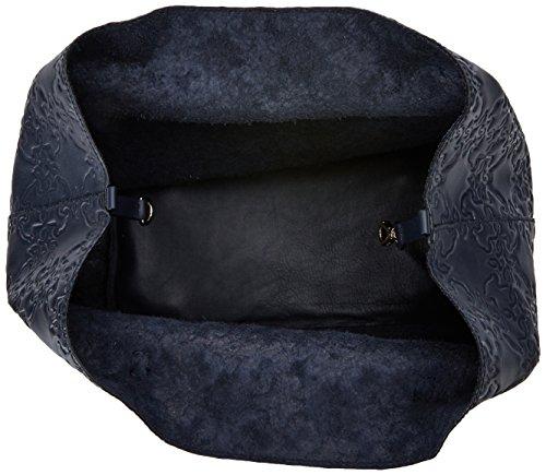 Tous Capazo L. Mossaic, Borsa a spalla donna 18.5x28x30 cm (W x H x L) Blu (Marino)
