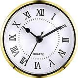Hicarer 3–1/5,1cm (90mm) Quarz-Uhr fit-up/Einsatz mit Römische Zahl, Quarzwerk (Gold Trim)