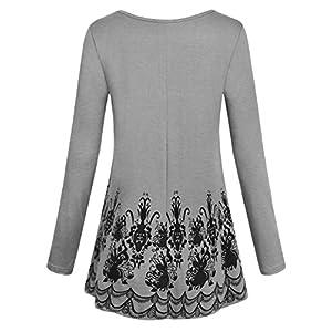 Hibelle-Langarm-Rundhals-Ausschnitt-Rosendruck-Locker-und-Lssig-Tunika-Top-Bluse